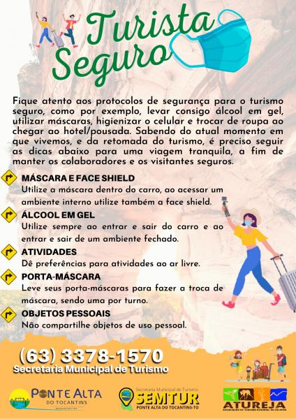 Para termos um Jalapão seguro é essencial que todos que fazem parte de trado turístico façam o uso dos protocolos sanitários.   Faça sua parte e também fiscalize!